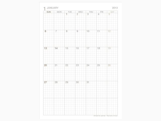 カレンダー a4 カレンダー 2014 : ... 月間 カレンダー a4 縦 の 2013