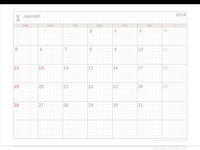 カレンダー a4 カレンダー 2014 : ... 書き込む月間カレンダー(SUN)[A4