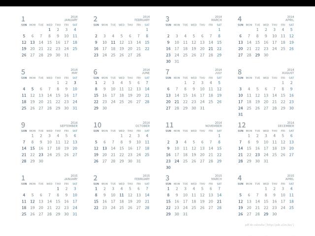 カレンダー 2015年カレンダー a4 : 15035_2015年カレンダー(16ヶ月)[A4 ...