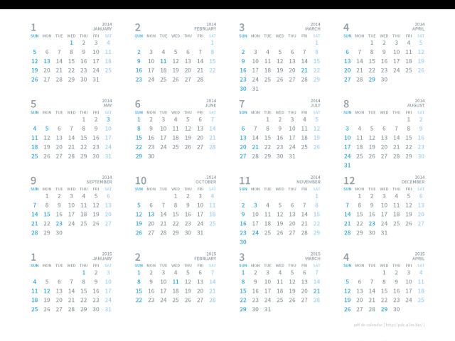 15035_2015年カレンダー(16ヶ月)[A4 ...