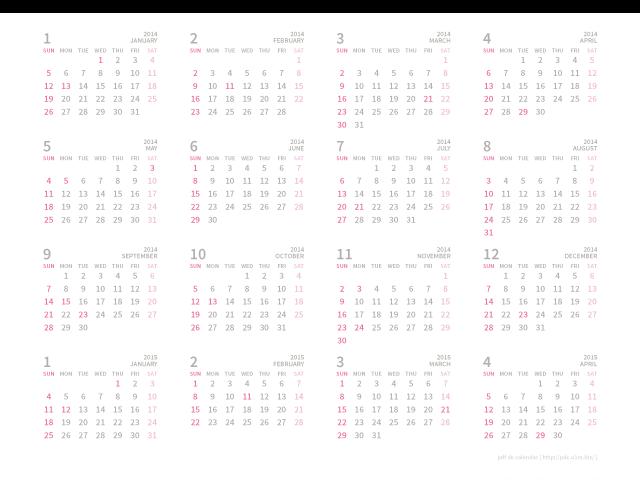 カレンダー カレンダー 2015 12ヶ月 : 15035_2015年カレンダー(16ヶ月)[A4 ...